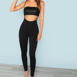 Solid Leggings with Strap